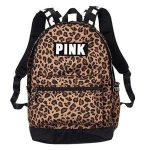 NWT Victoria's Secret PINK Leopord Print Backpack